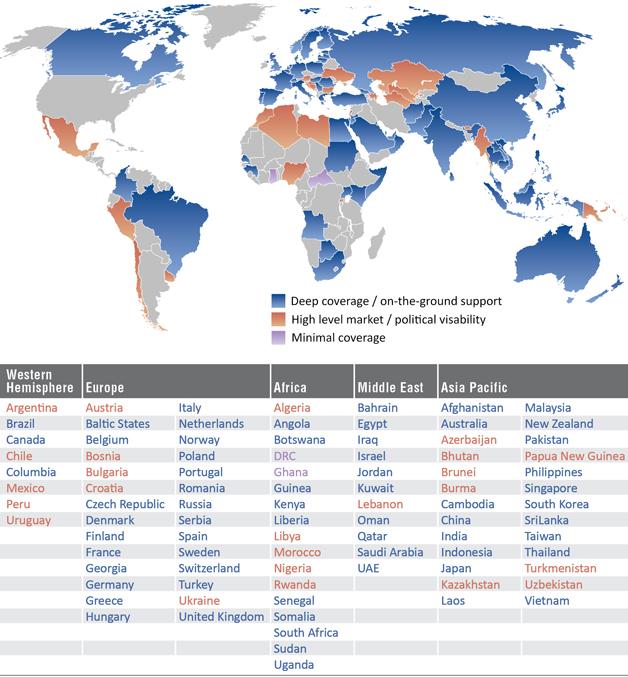 Avascent International Coverage Map