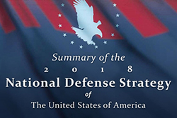 Defense Secretary James N. Mattis announced the new National Defense Strategy in a speech at the Johns Hopkins School of Advanced International Studies. Image courtesy of DoD.