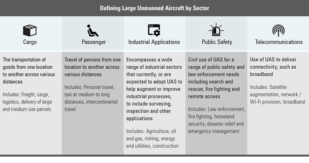 Defining Large Unmanned Aircraft by Sector