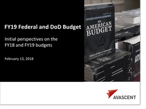 FY19 Federal and DoD Budget Presentation Cover Image
