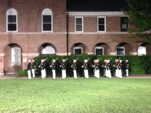 Evening Parade at the historic Eighth & I Marine Corps Barracks