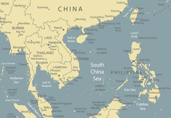 South China Sea, Paracel Islands and Spratly Islands