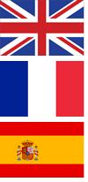 UK, France, Spain flags