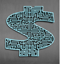 Dollar sign maze image