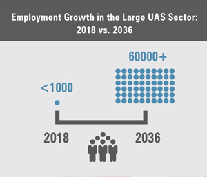 Employment Growth in the Large UAS Sector