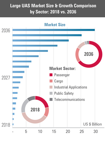 Large UAS Market Size & Growth Comparison by Sector